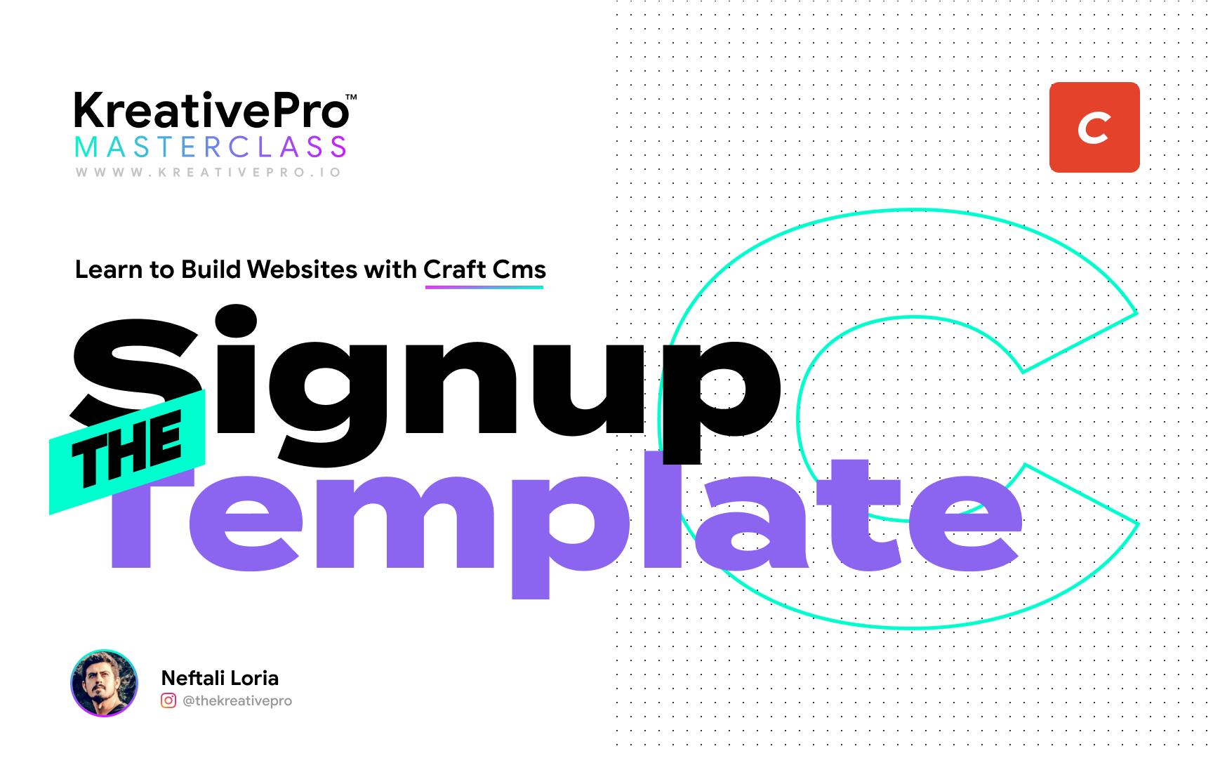 Craft 5.1 - Sign Up