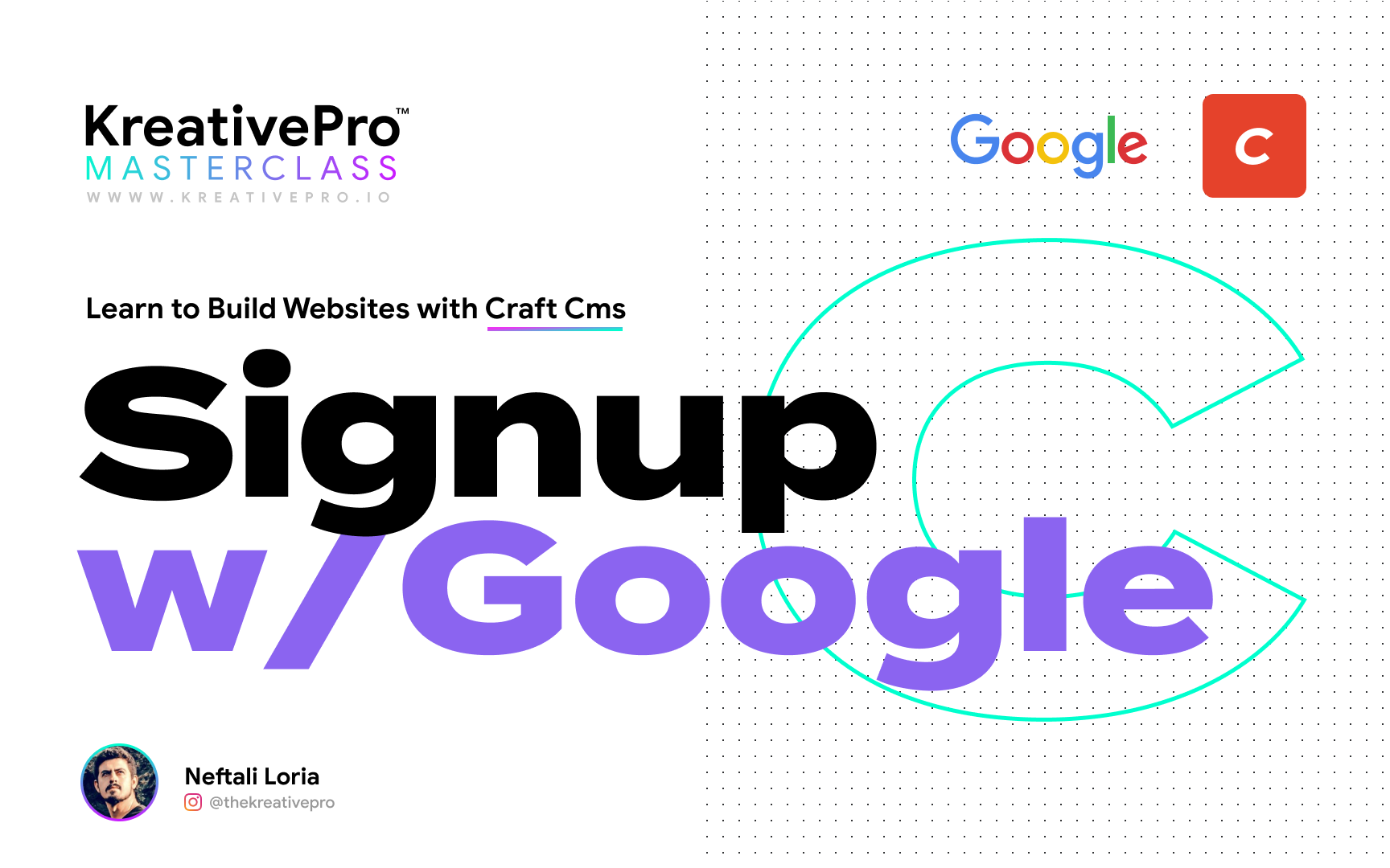 Craft 5.4 - Google Sign Up