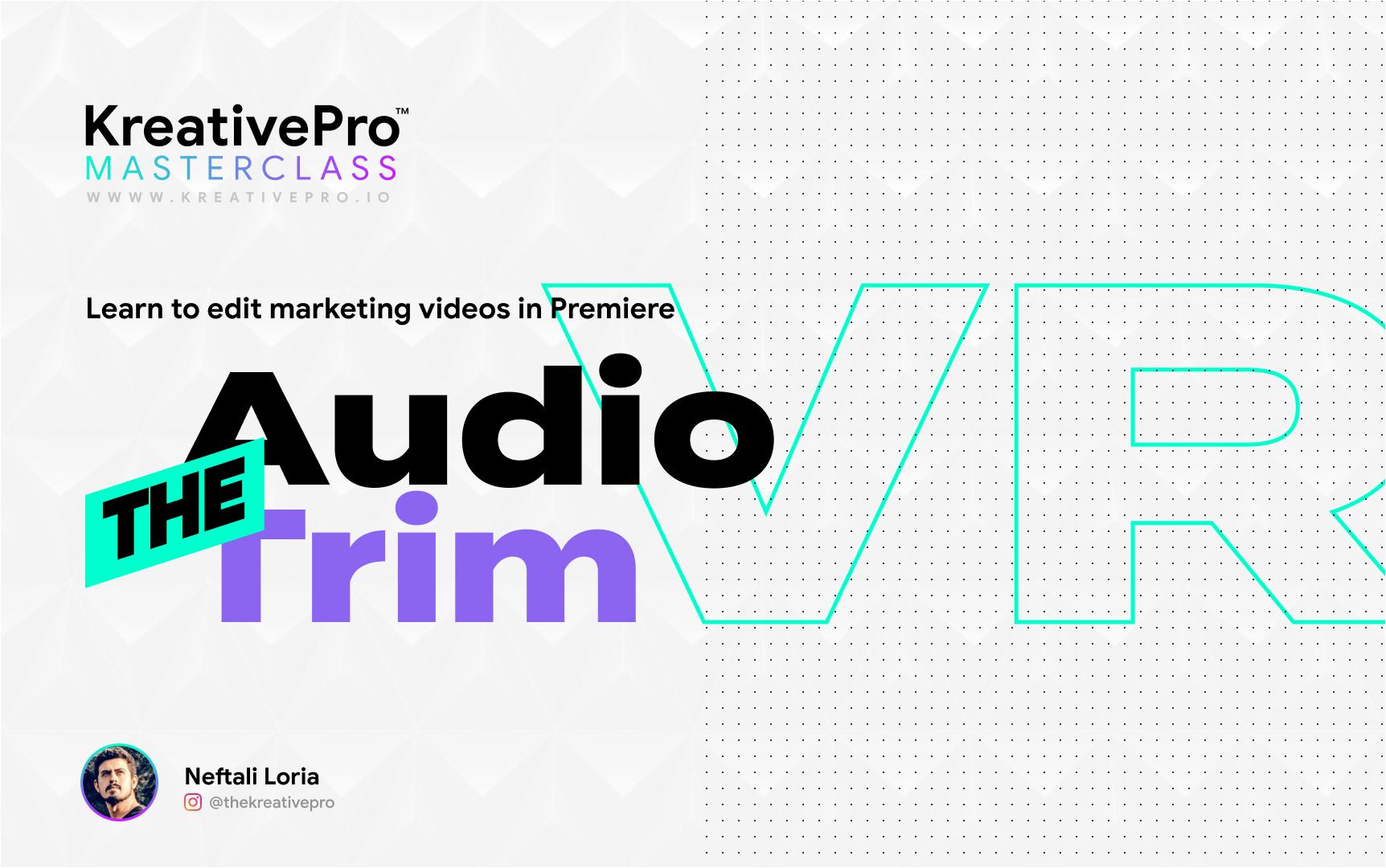 Adobe Premiere 3.3 - Audio Trim