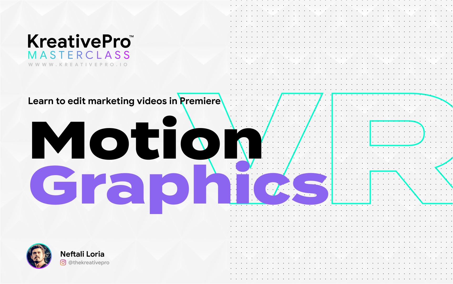 Adobe Premiere 3.8 - Motion Graphics