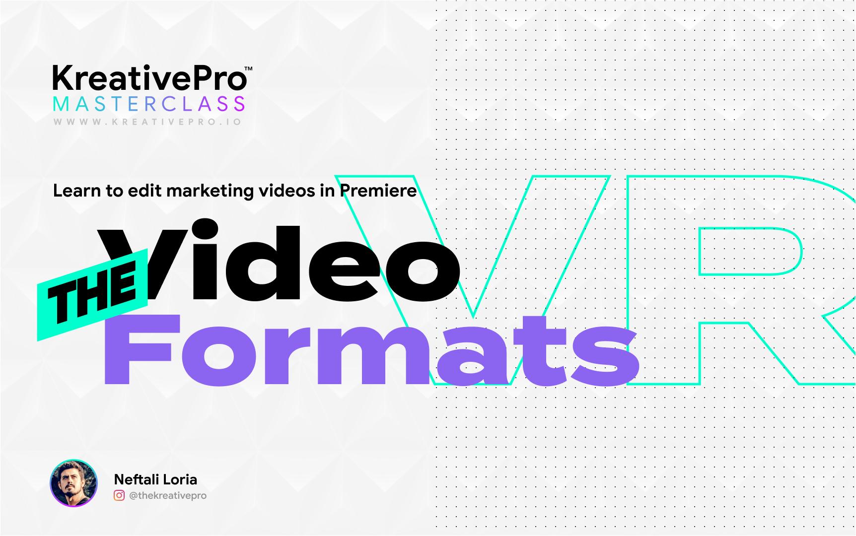 Adobe Premiere 4.1 - Video Formats