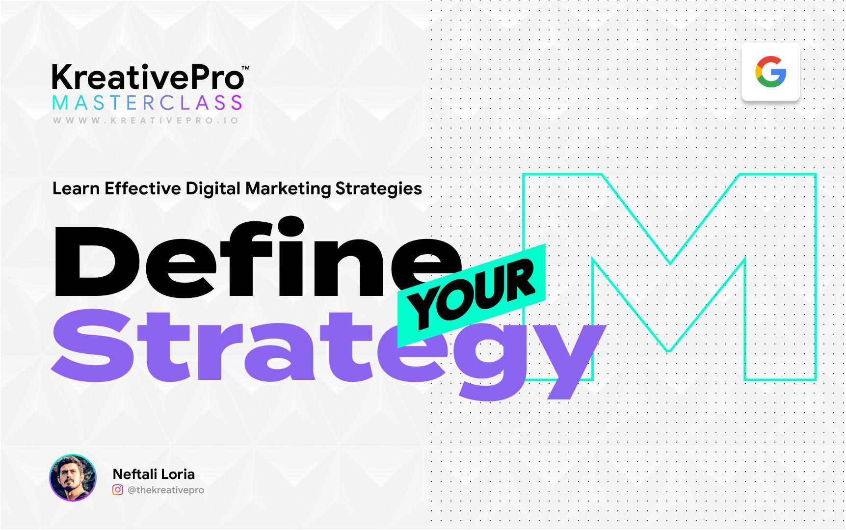 Marketing 3.1 - Define Your Strategy