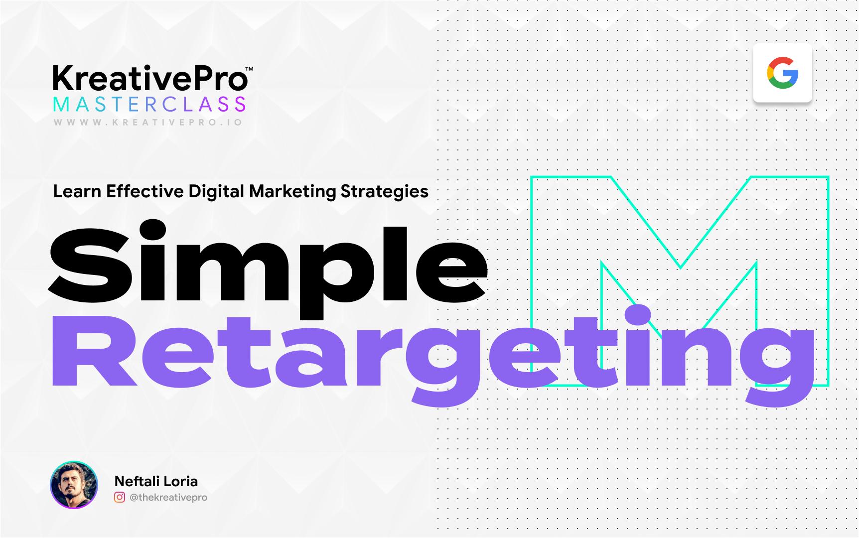 Marketing 4.2 - Simple Retargeting Ad Campaigns