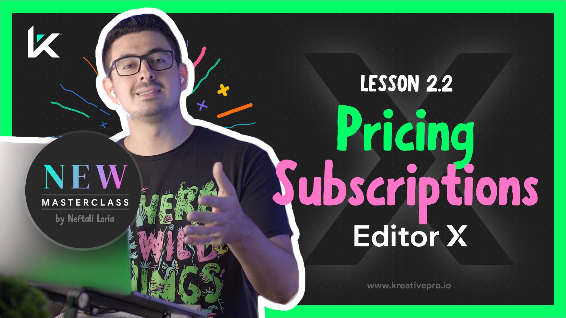Editor X 2.2 - Editor X Pricing Plans