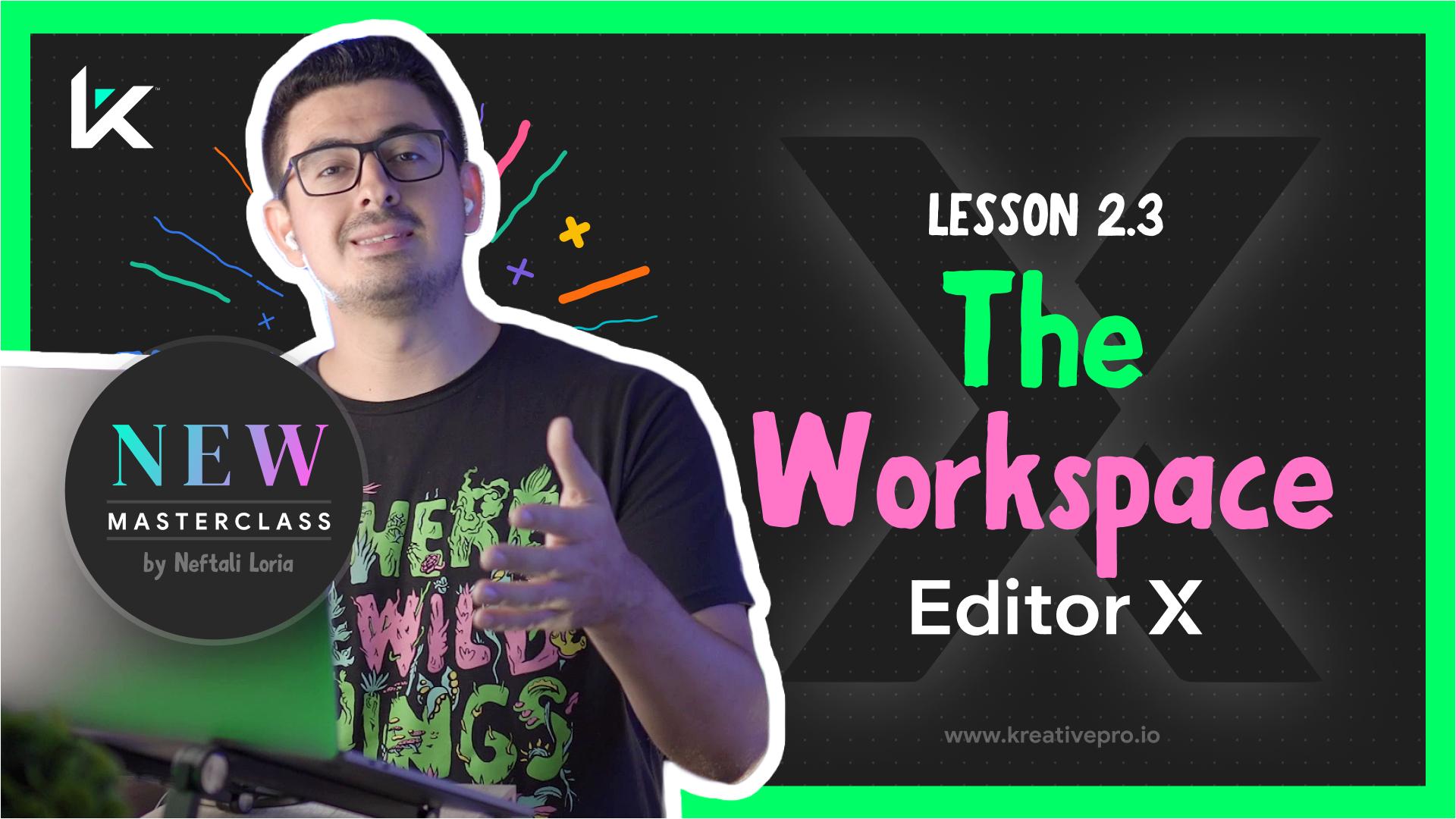 Editor X 2.3 - Editor X Workspace