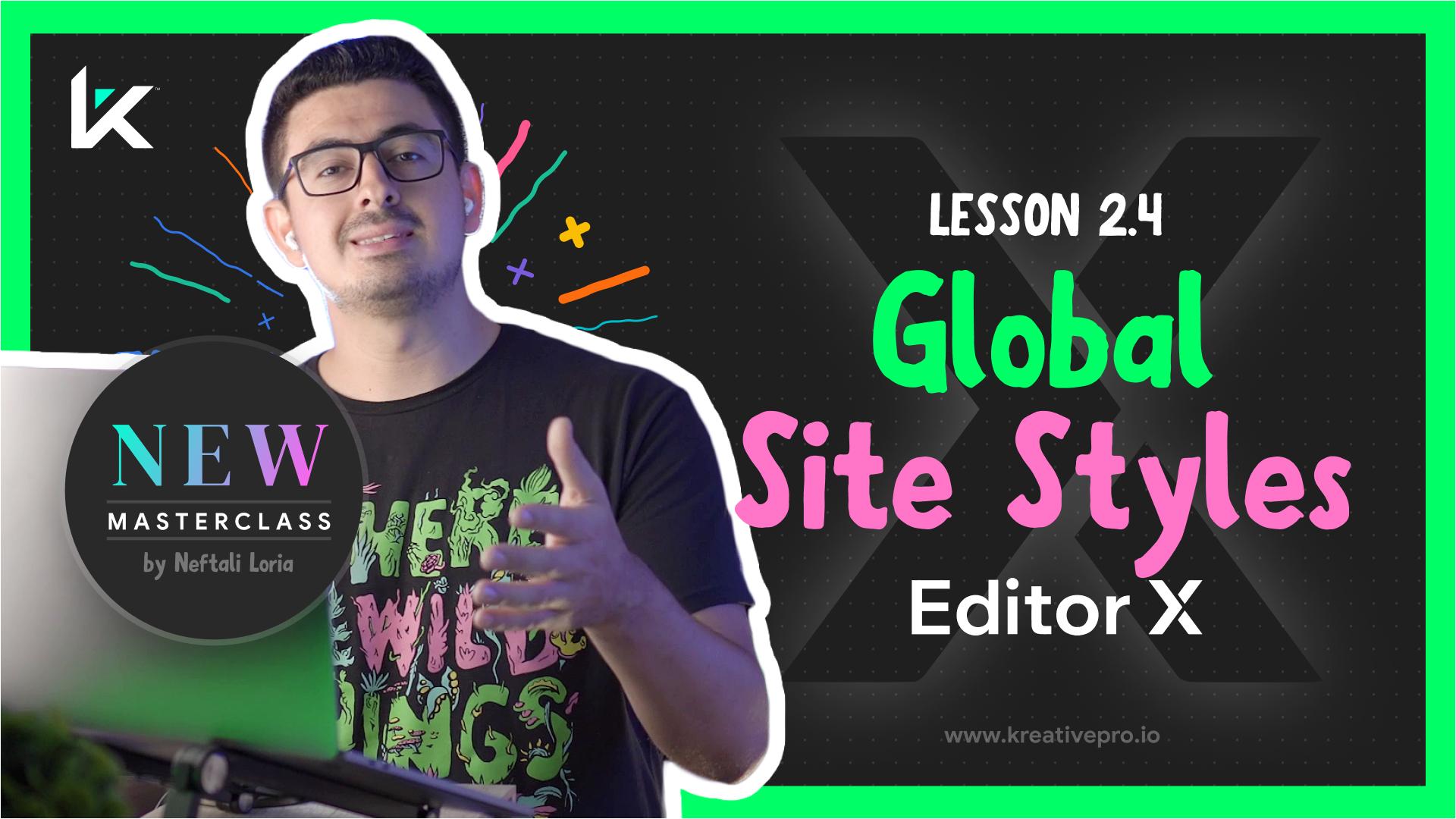 Editor X 2.4 - Editor X Site Styles