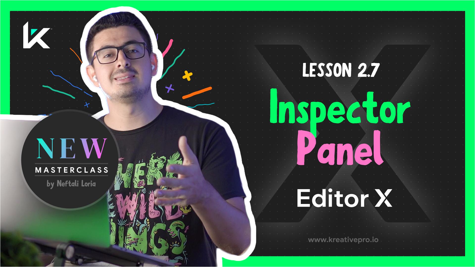 Editor X 2.7 - Editor X Inspector Panel