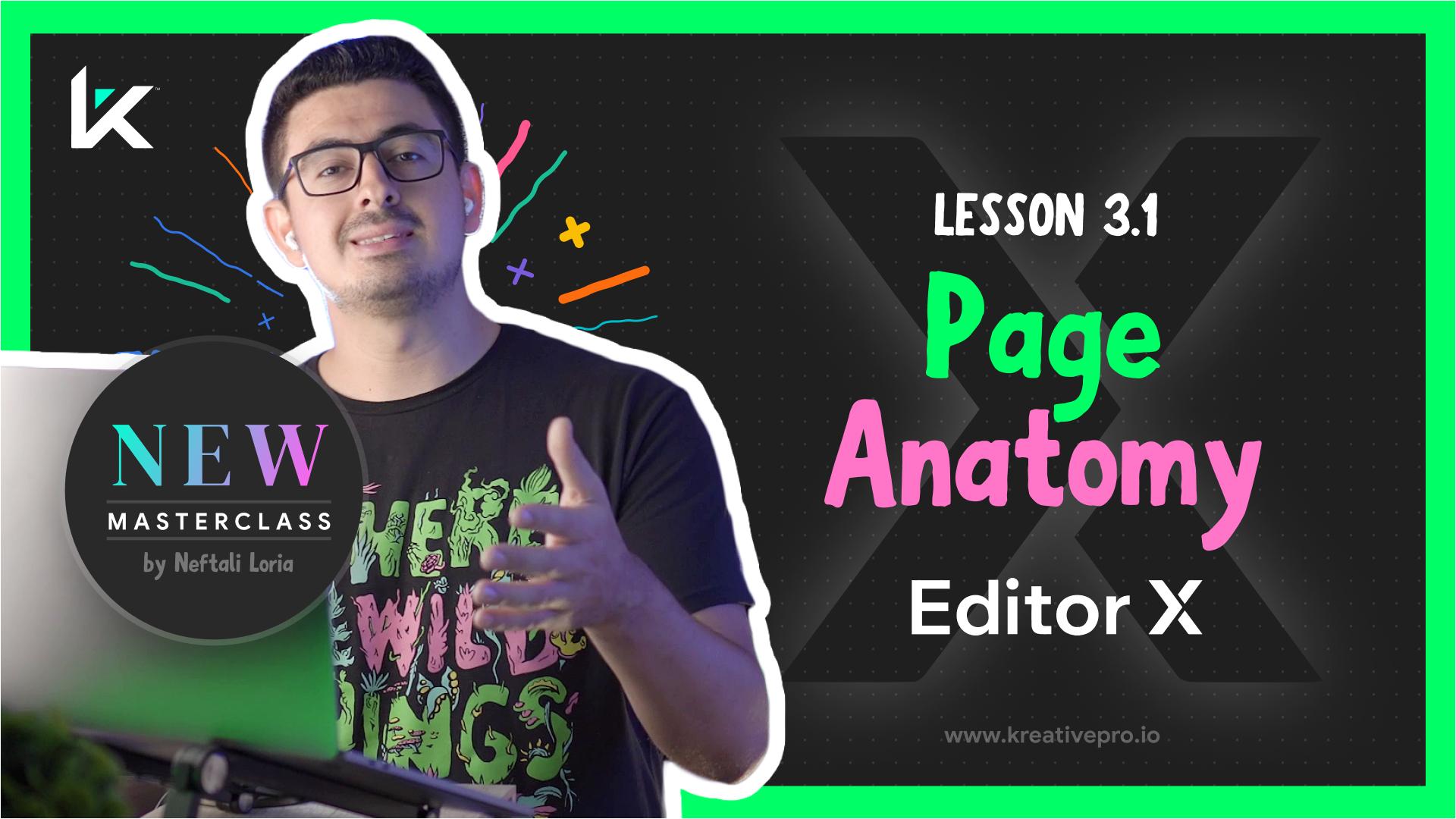 Editor X 3.1 - Editor X Page Anatomy