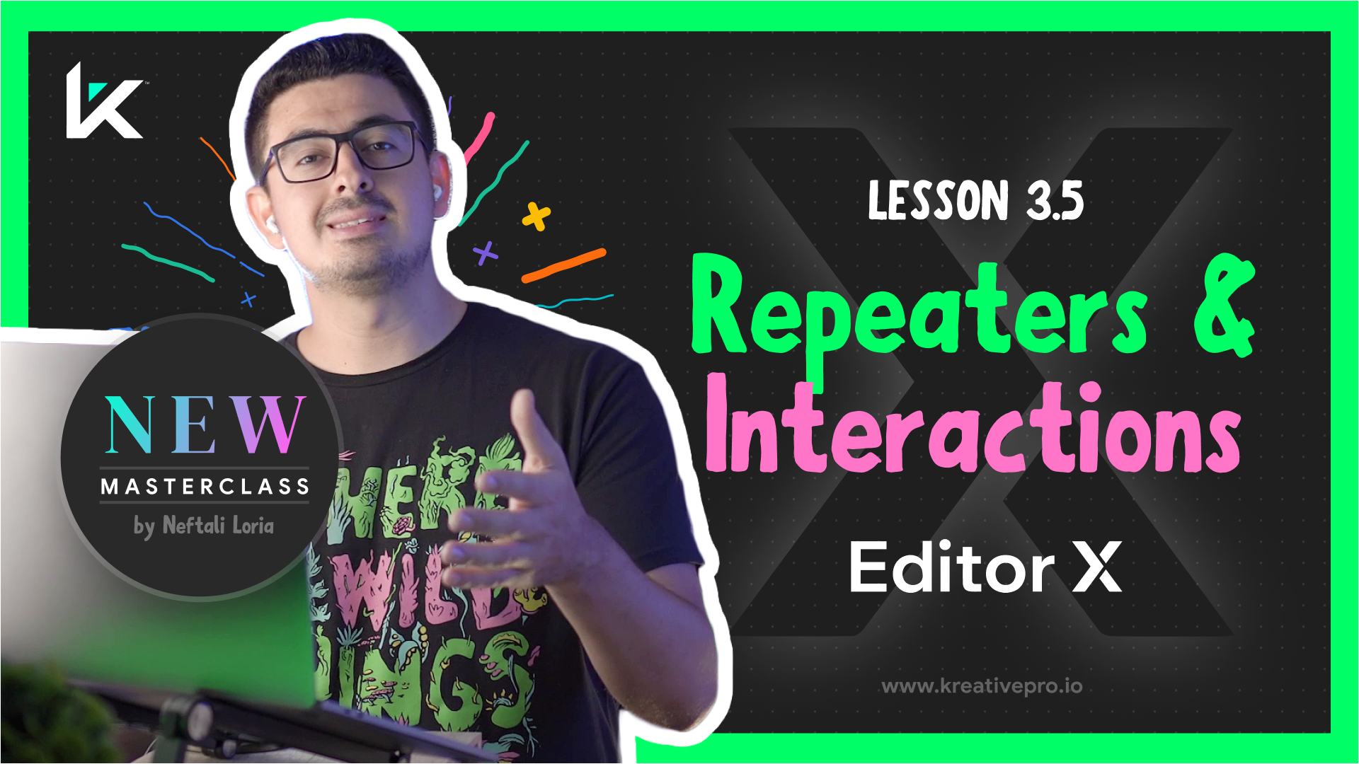 Editor X 3.5 - Editor X Repeaters and Interactions
