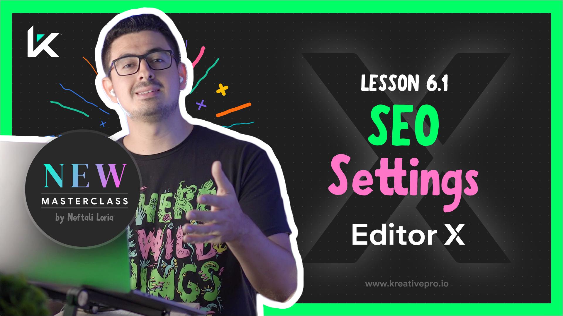 Editor X 6.1 - SEO Settings