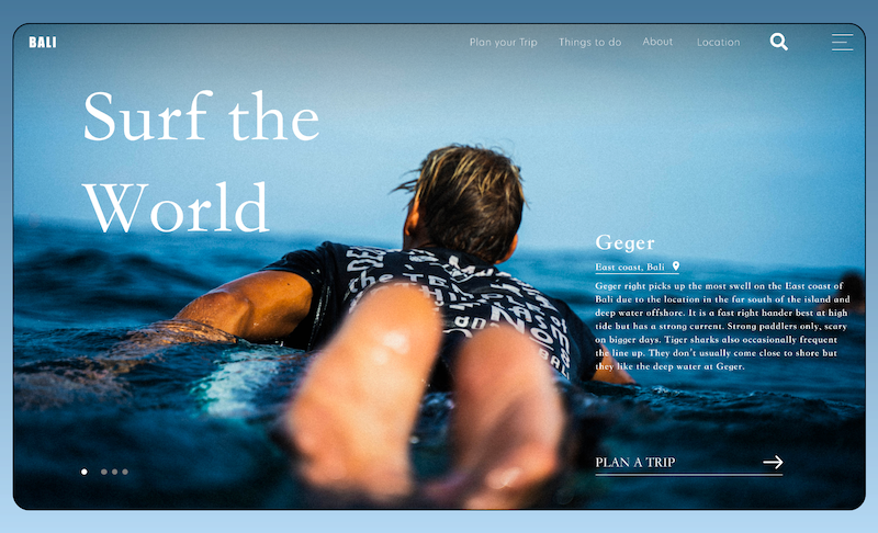 Surf hemsida