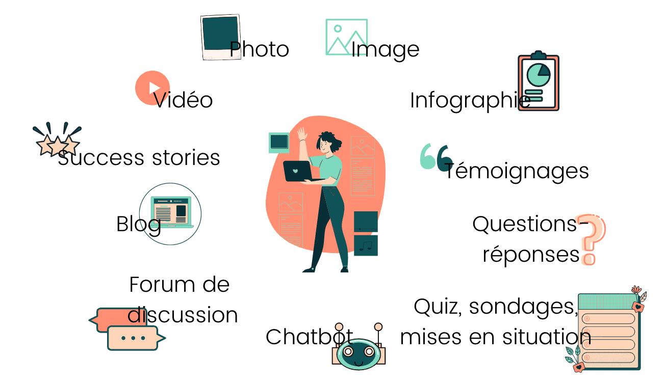 Types de contenus sur votre site carrière