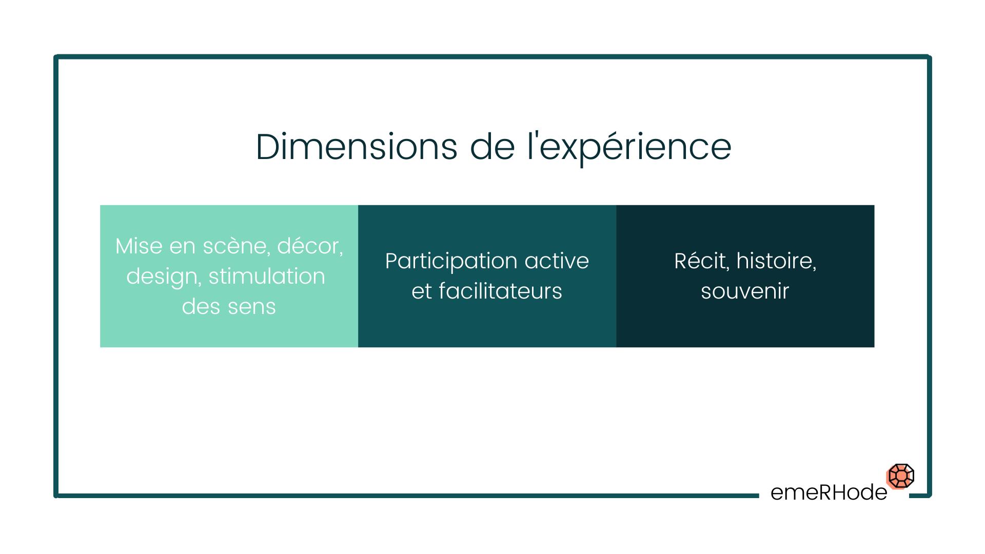 Dimension de l'expérience