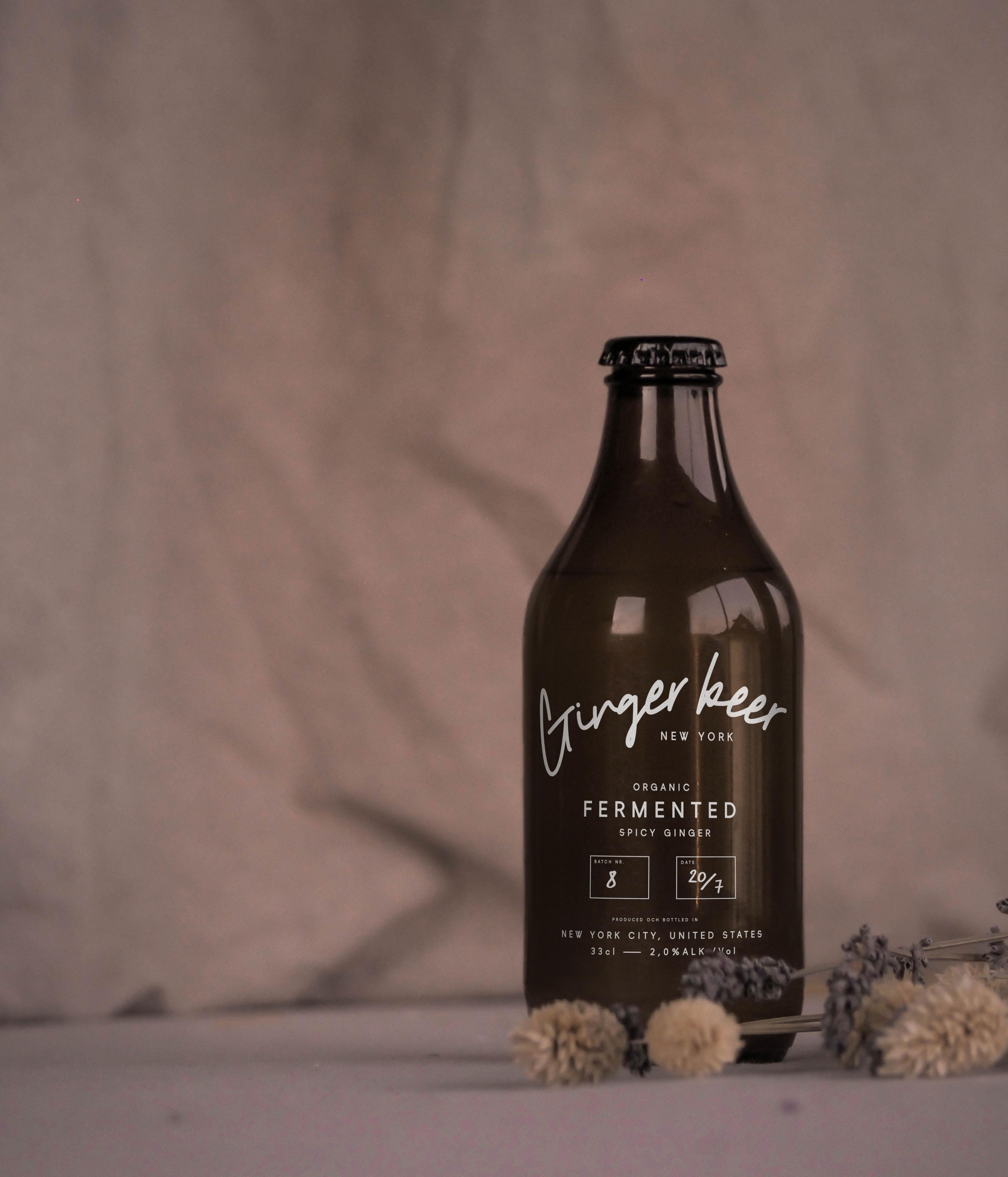 Stubby beer bottle mockup
