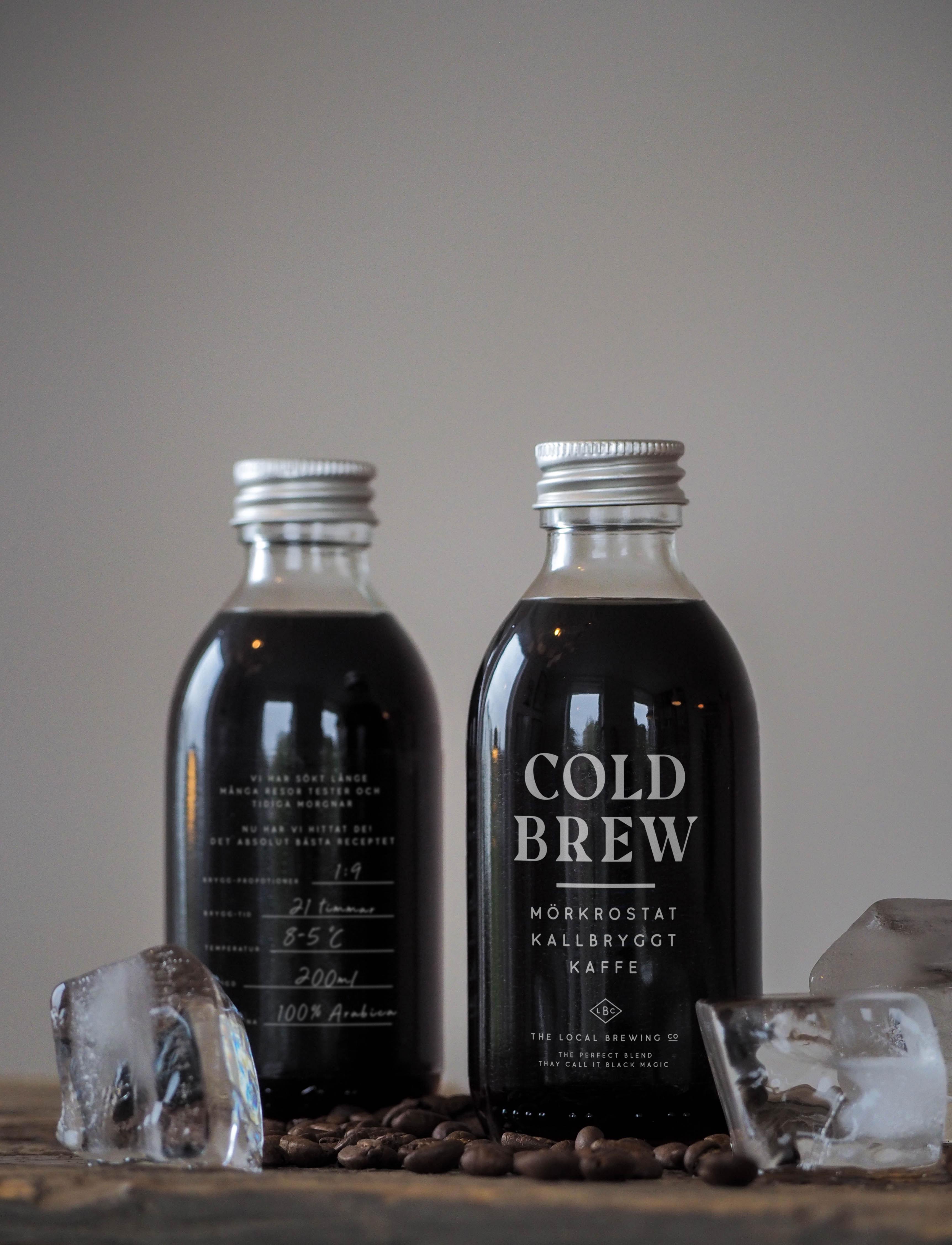 Cold brew bottle mockup