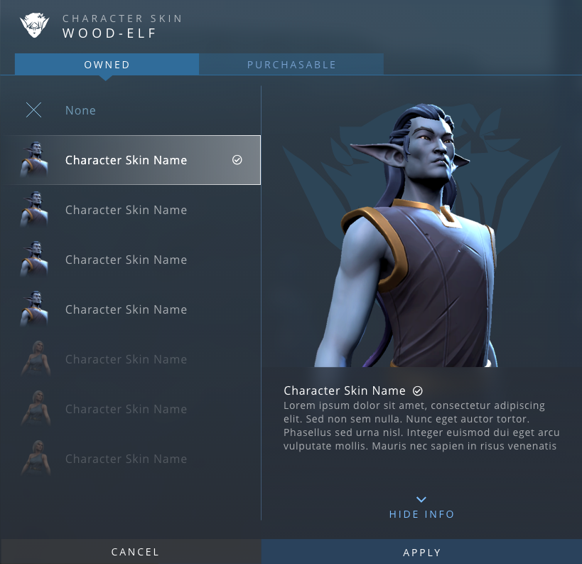 Character skin editor