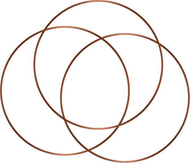 Three copper circles.