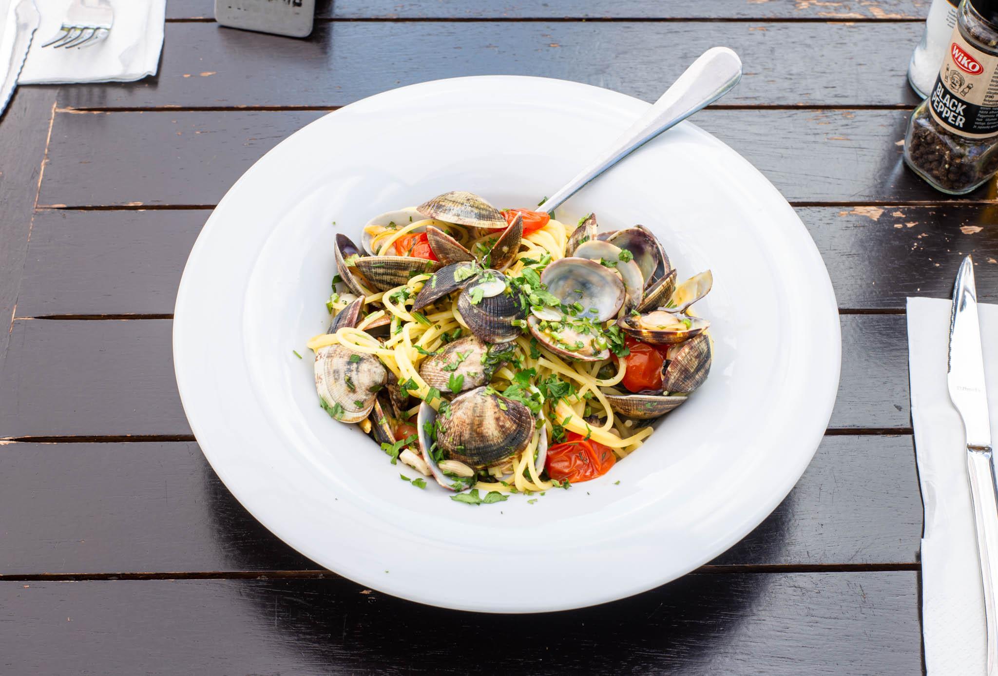 Italian dish on the table