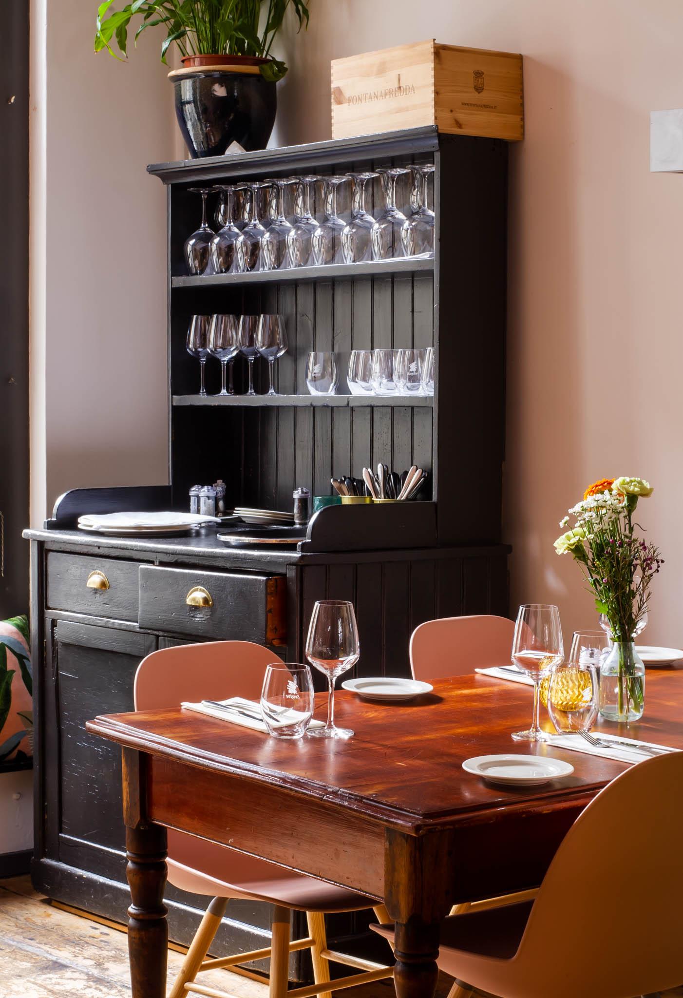 Interior of an Italian restaurant