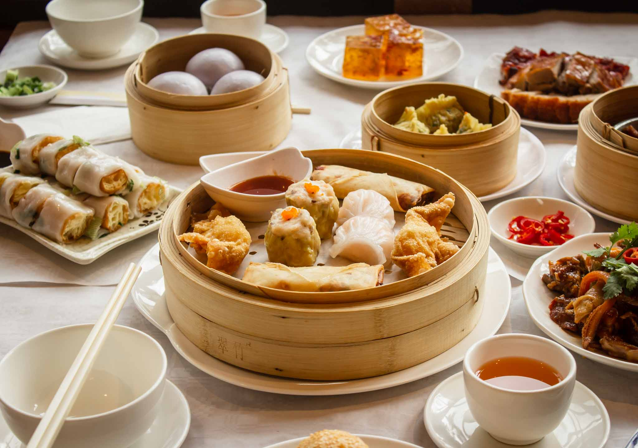 Traditional Chinese dish on the table of a restaurant