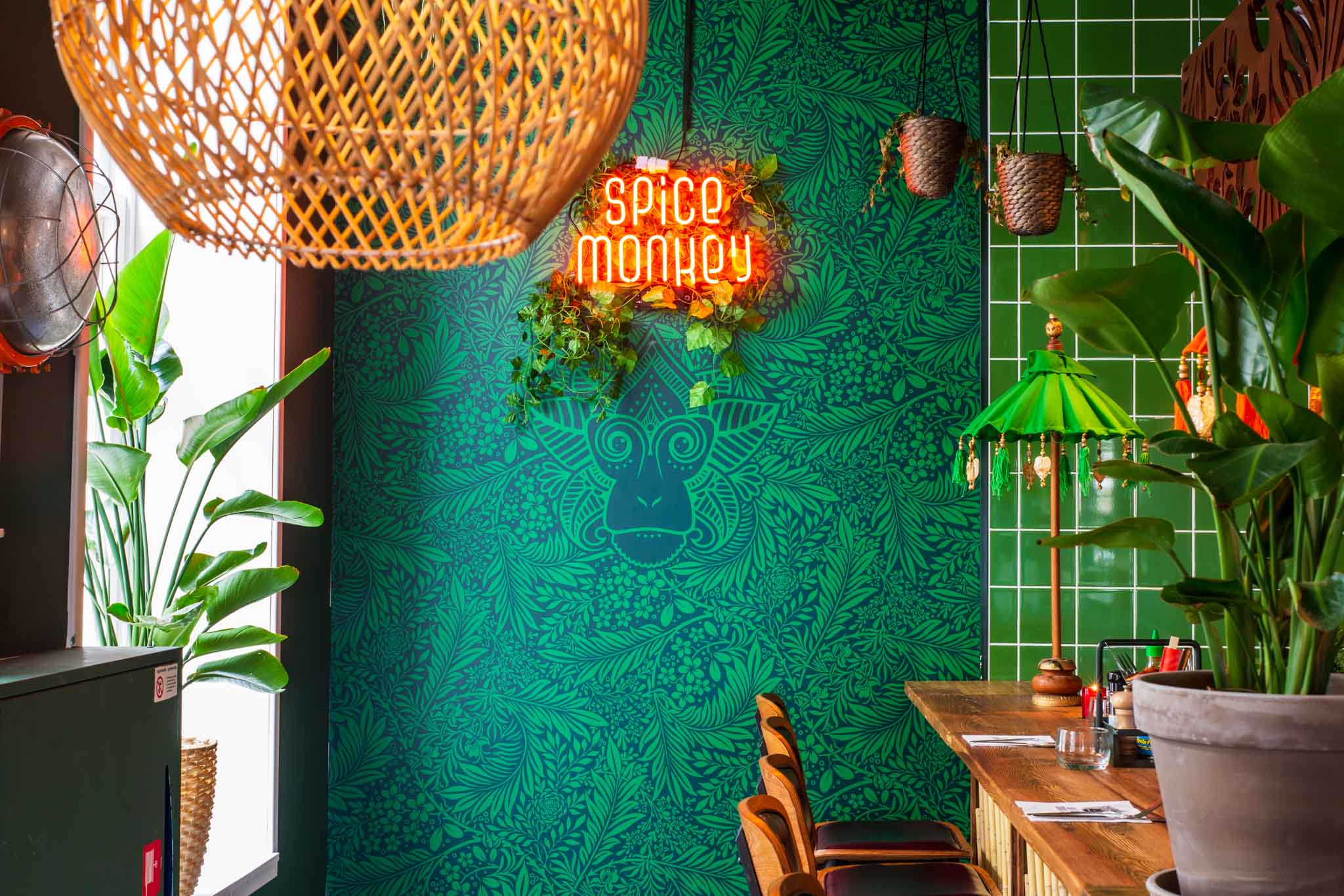 Photogenic interior of an Indonesian restaurant
