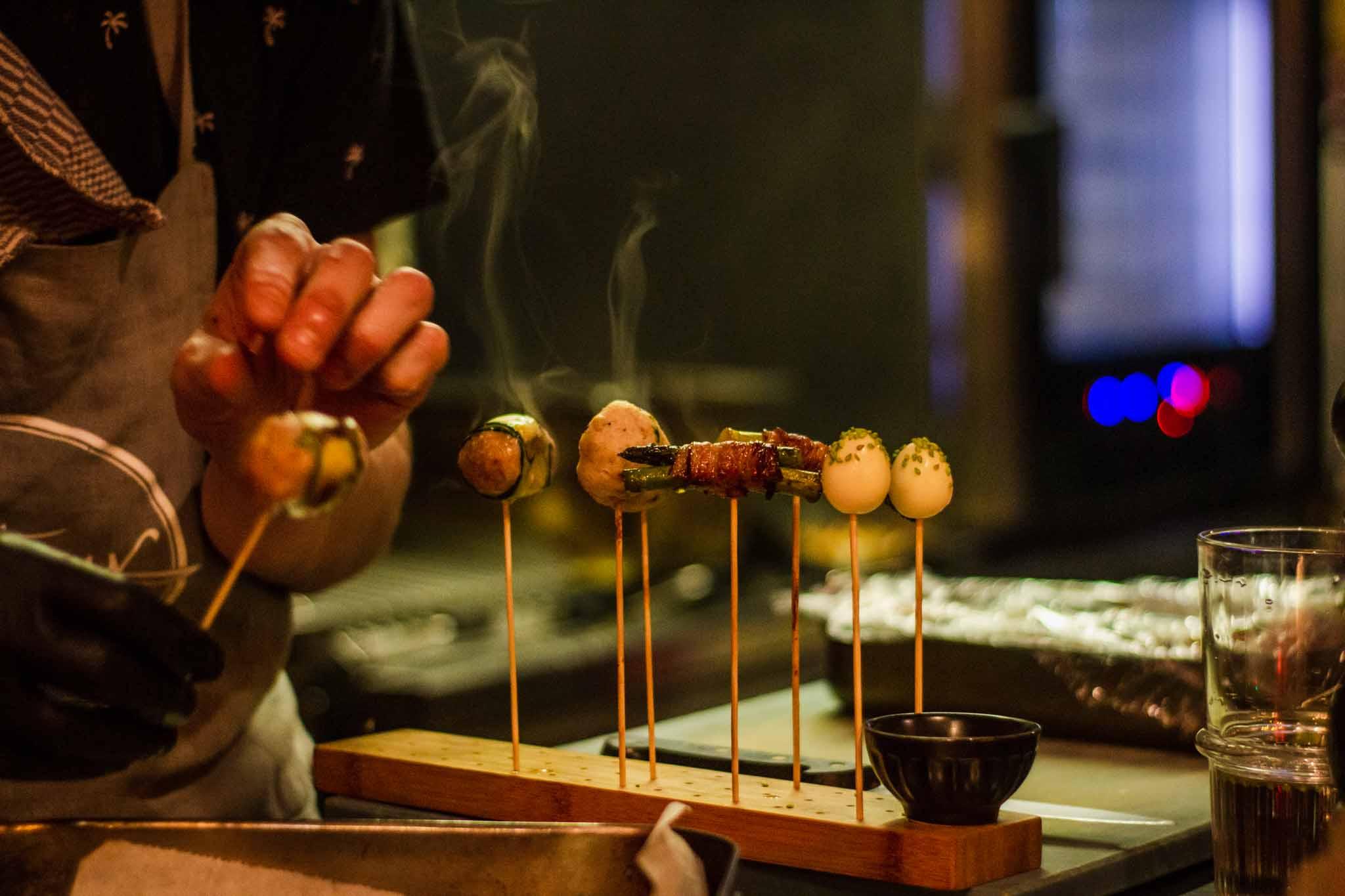 Chef preparing Thai dish