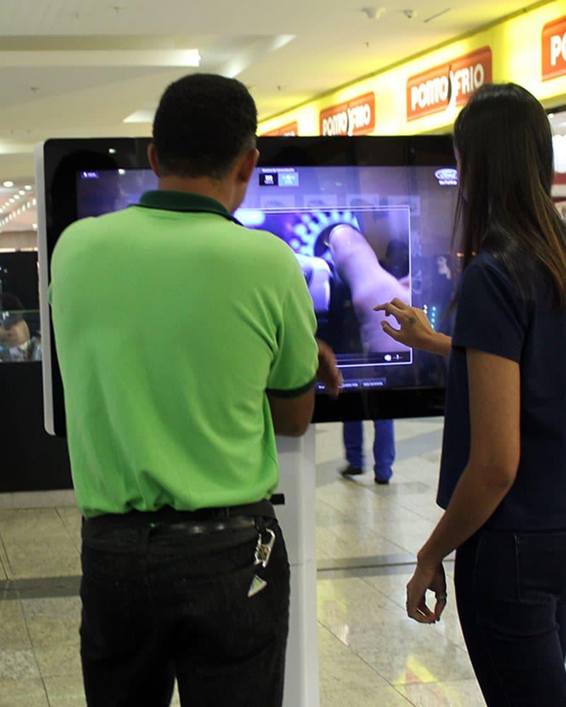 Solução interativa em lojas e locais públicos