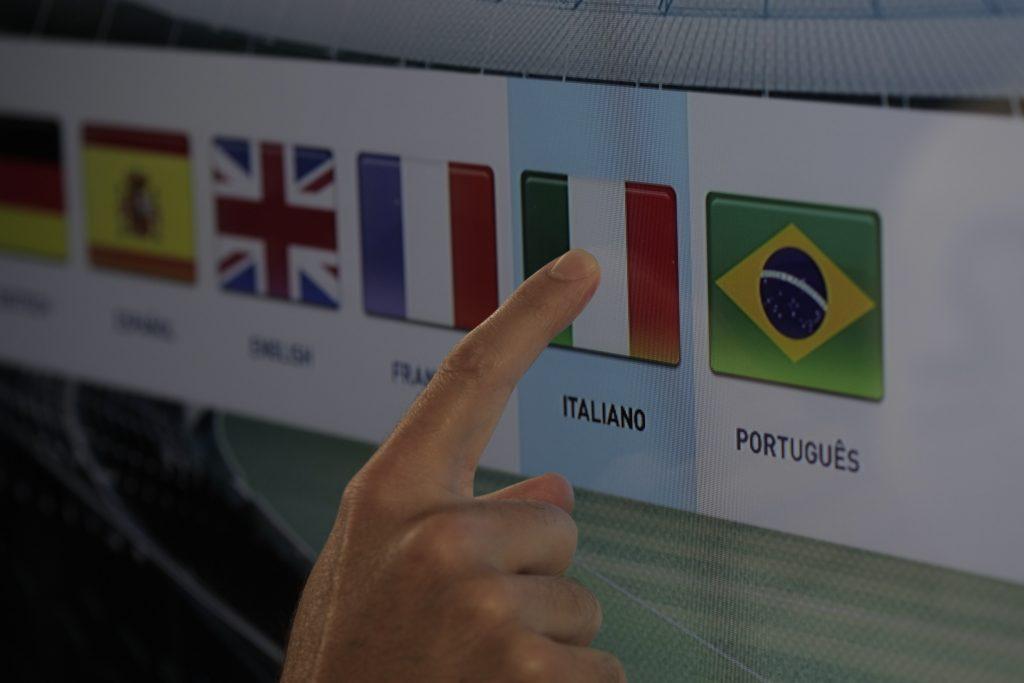 interatividade touchscreen