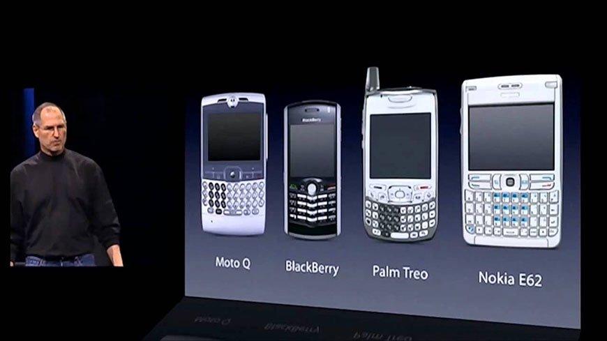 Steve Jobs no lançamento do iPhone