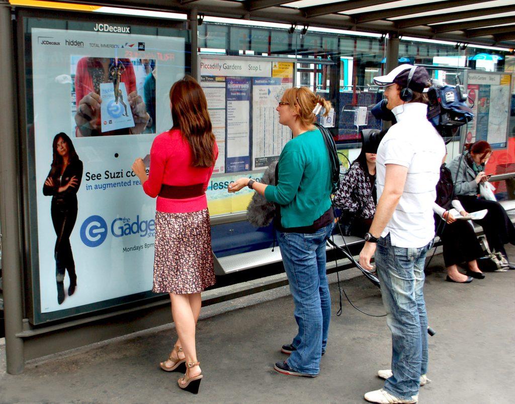 Touchscreen para abrigo de ônibus