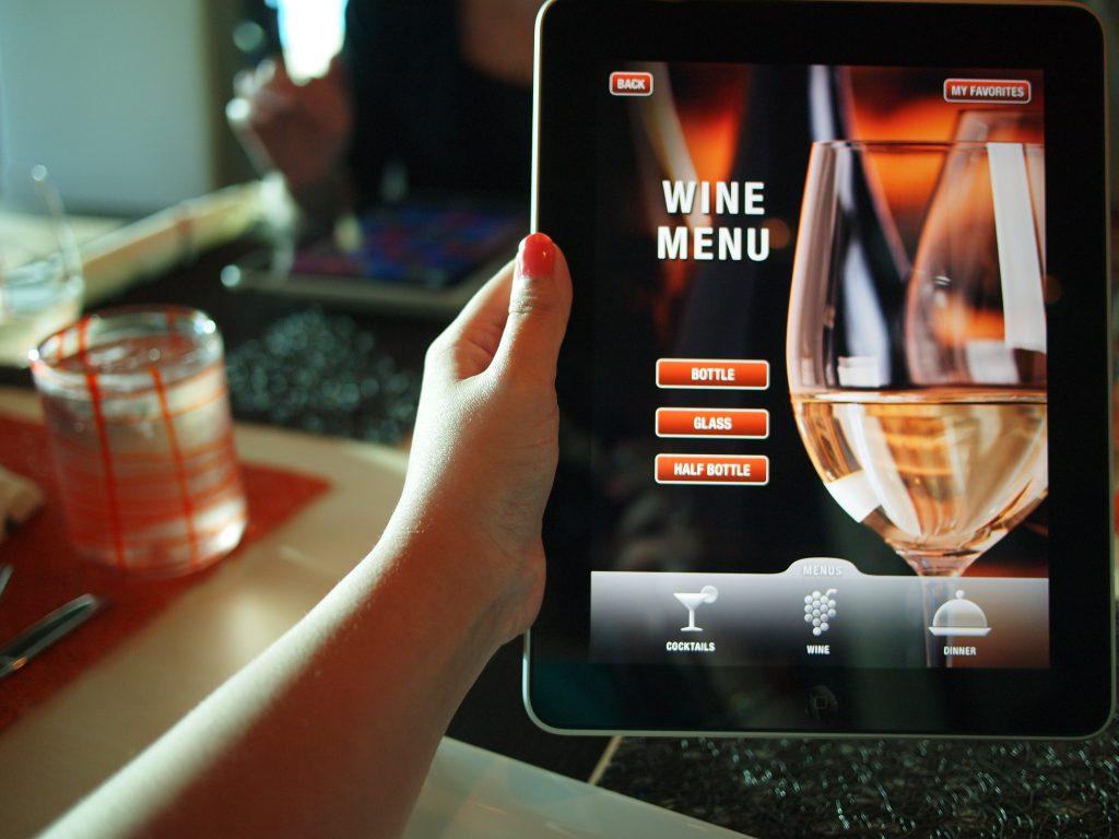 Cardápio interativo de vinhos