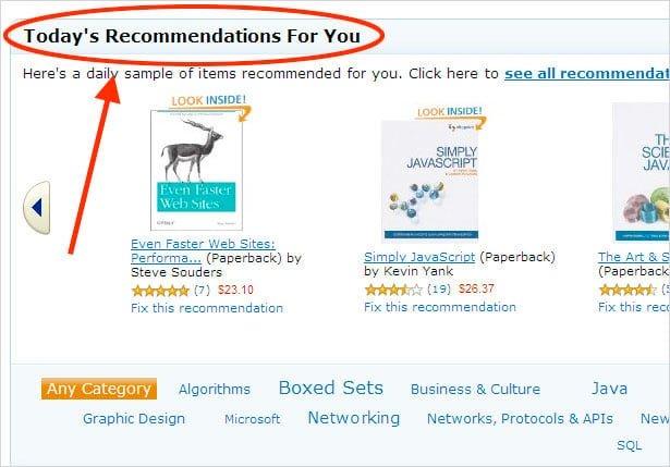 Recomendação e-commerce