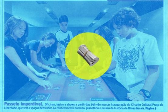 Tela touchscreen multitoque da Aqua é destaque no jornal O Tempo