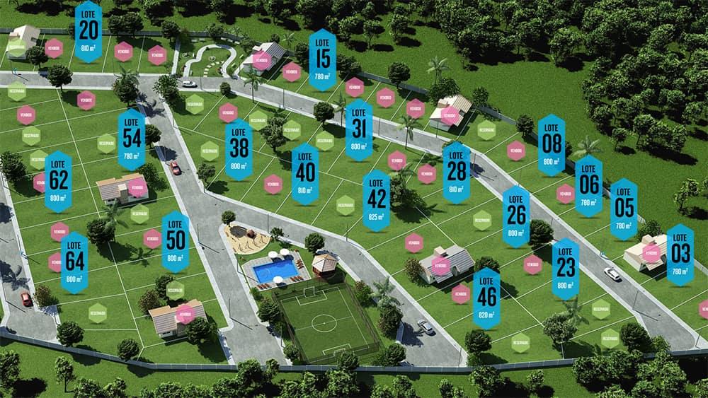 Estande de loteamento / urbanização