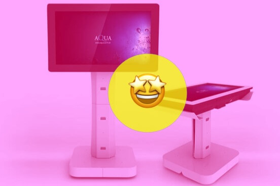 Aqua apresenta novo totem, mesa e tela touchscreen multitoque L42