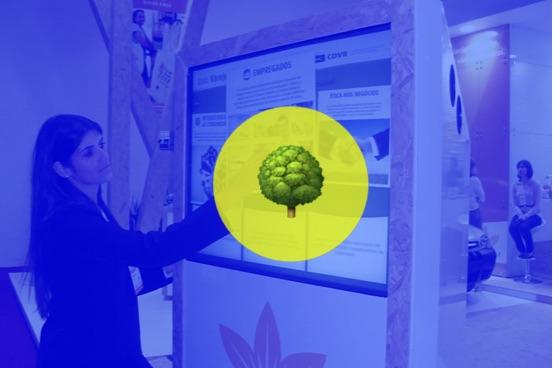 Souza Cruz usa solução multitoque para apresentar suas ações de sustentabilidade na FIPAN 2011