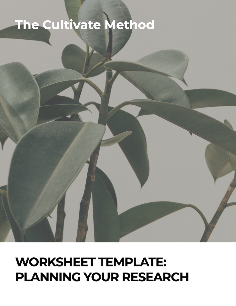 Cover image for Worksheet Template: Planning your research