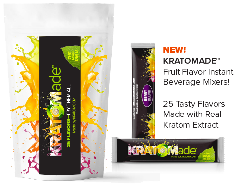 New Kratomade Fruit Flavored Extract - mix with water - tastes great. 25 new flavors - made by Kratom.com