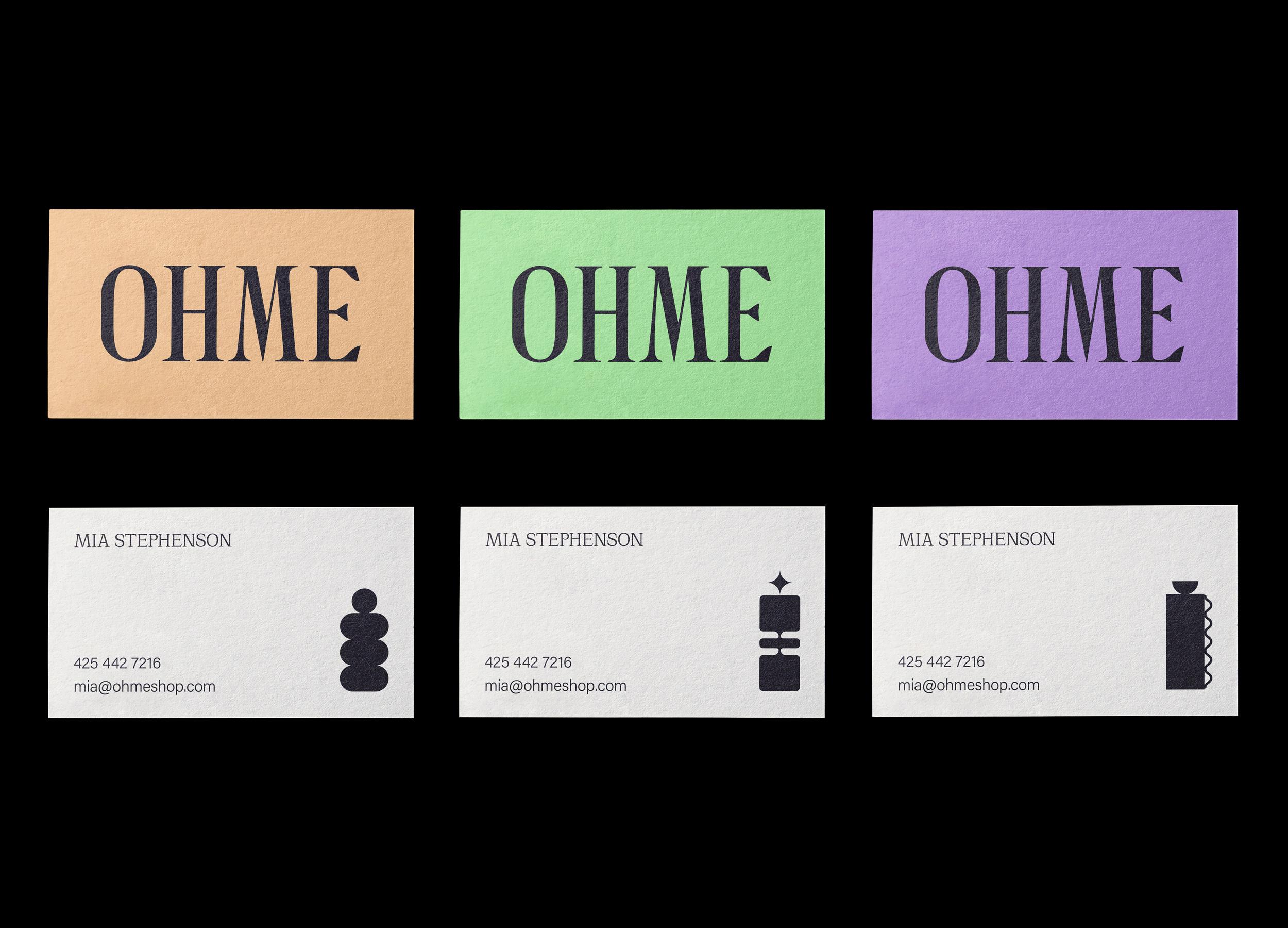 OHME Business Card Design