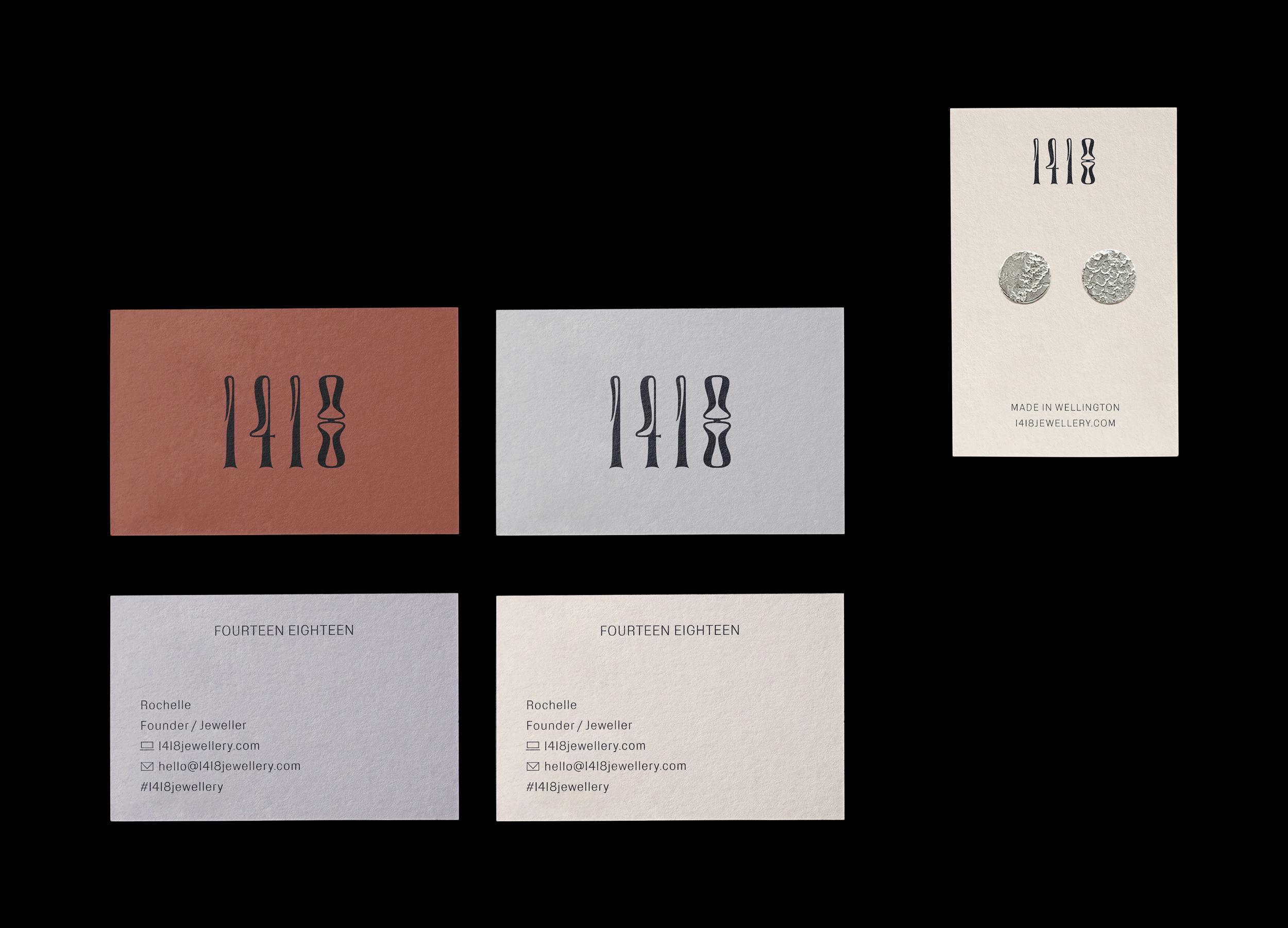 1418 Business Card & Earring Card Design