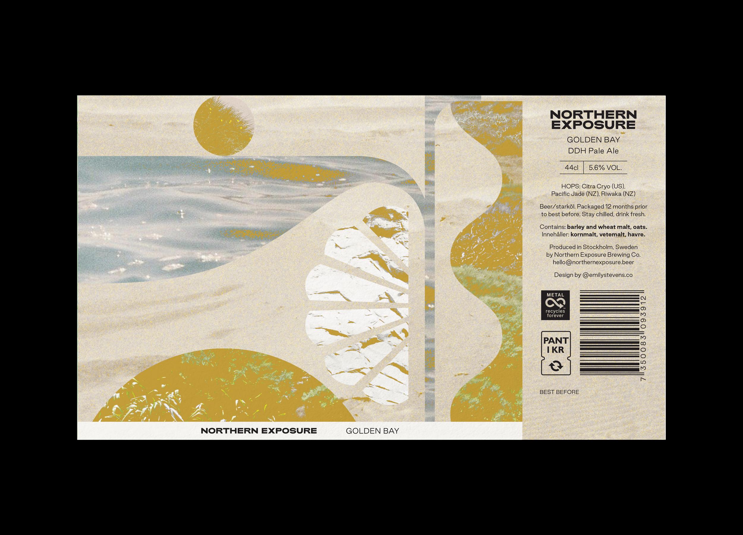 Northern Exposure label design for Golden Bay