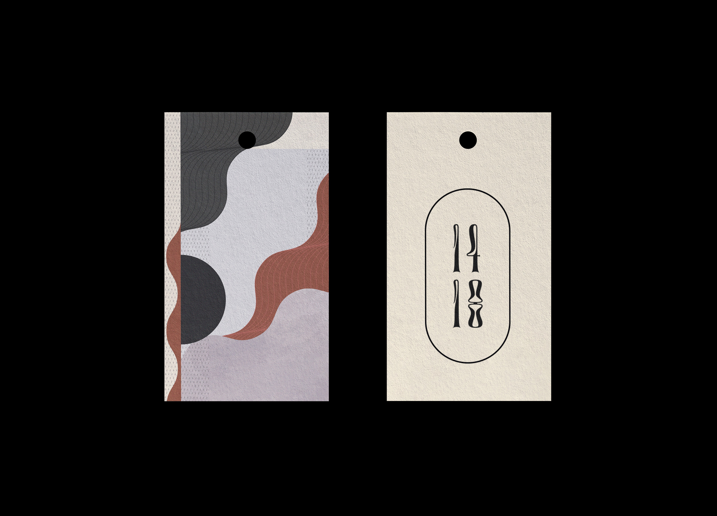 Hang tag design for 1418 Jewellery