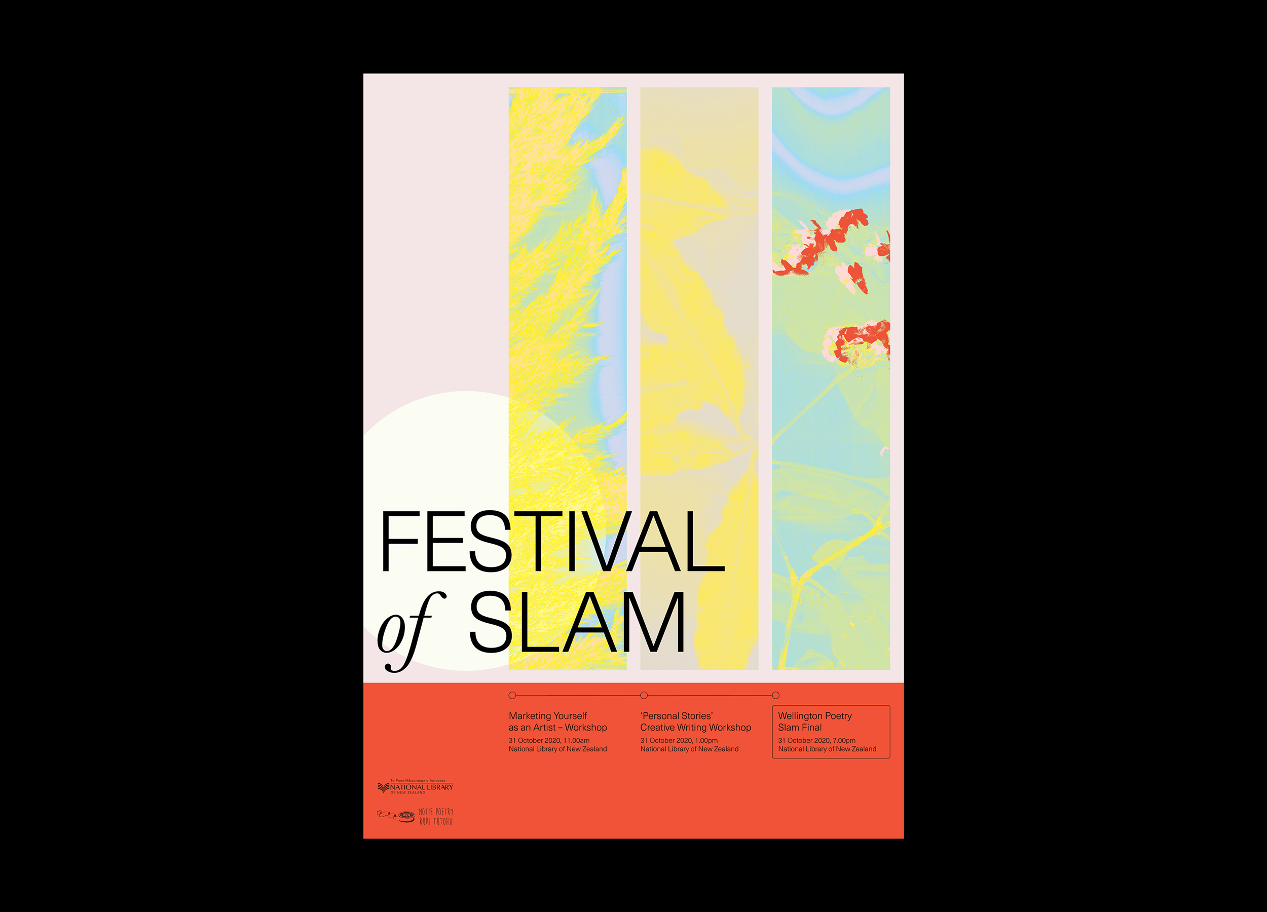 Festival of Slam poster design