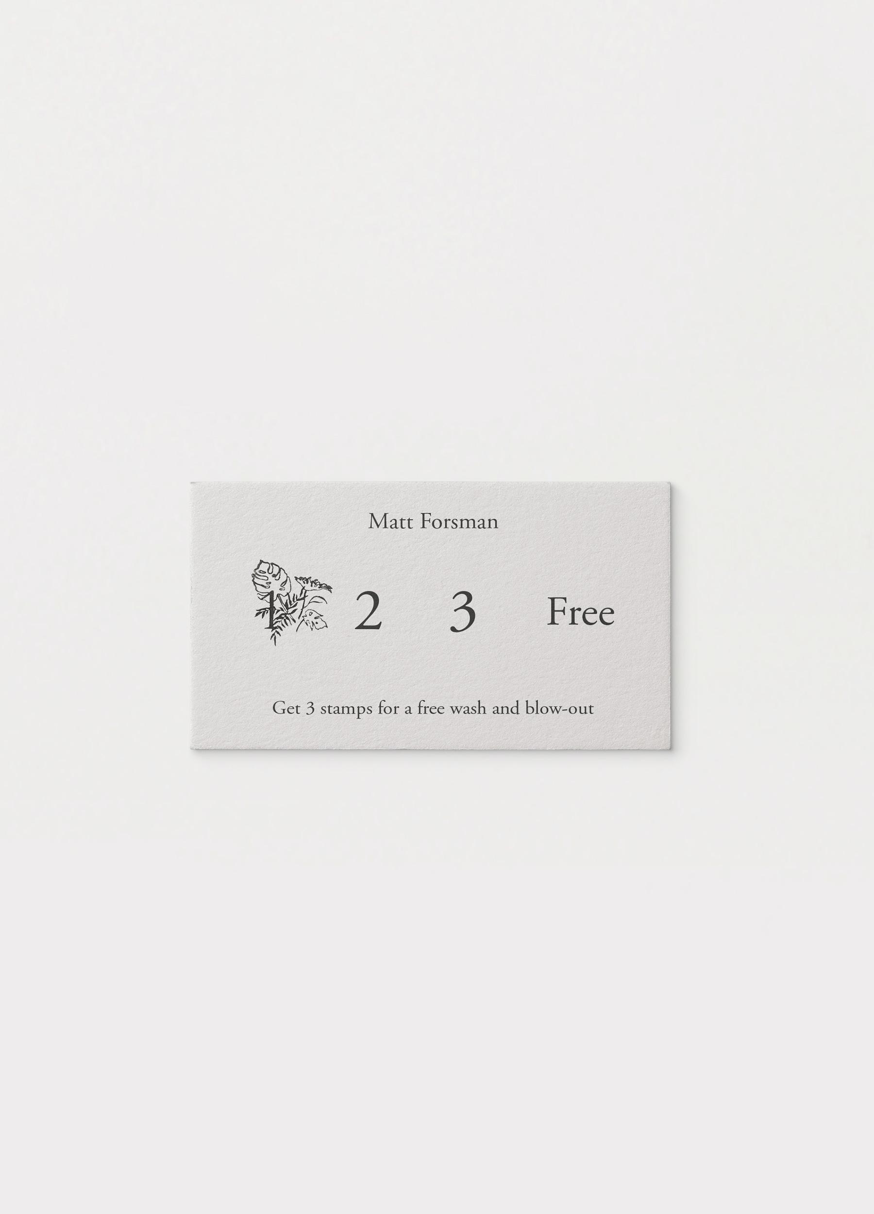 Illustration for Matt Forsman Hair as stamp for loyalty cards
