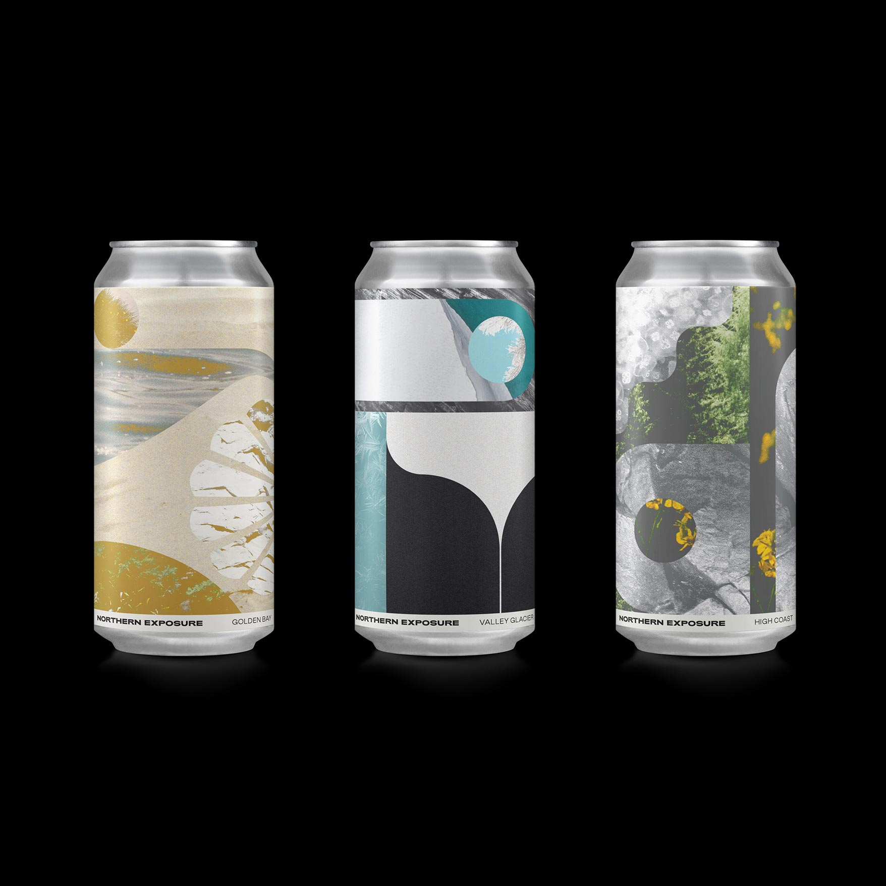 Northern Exposure collaged beer can designs by ES