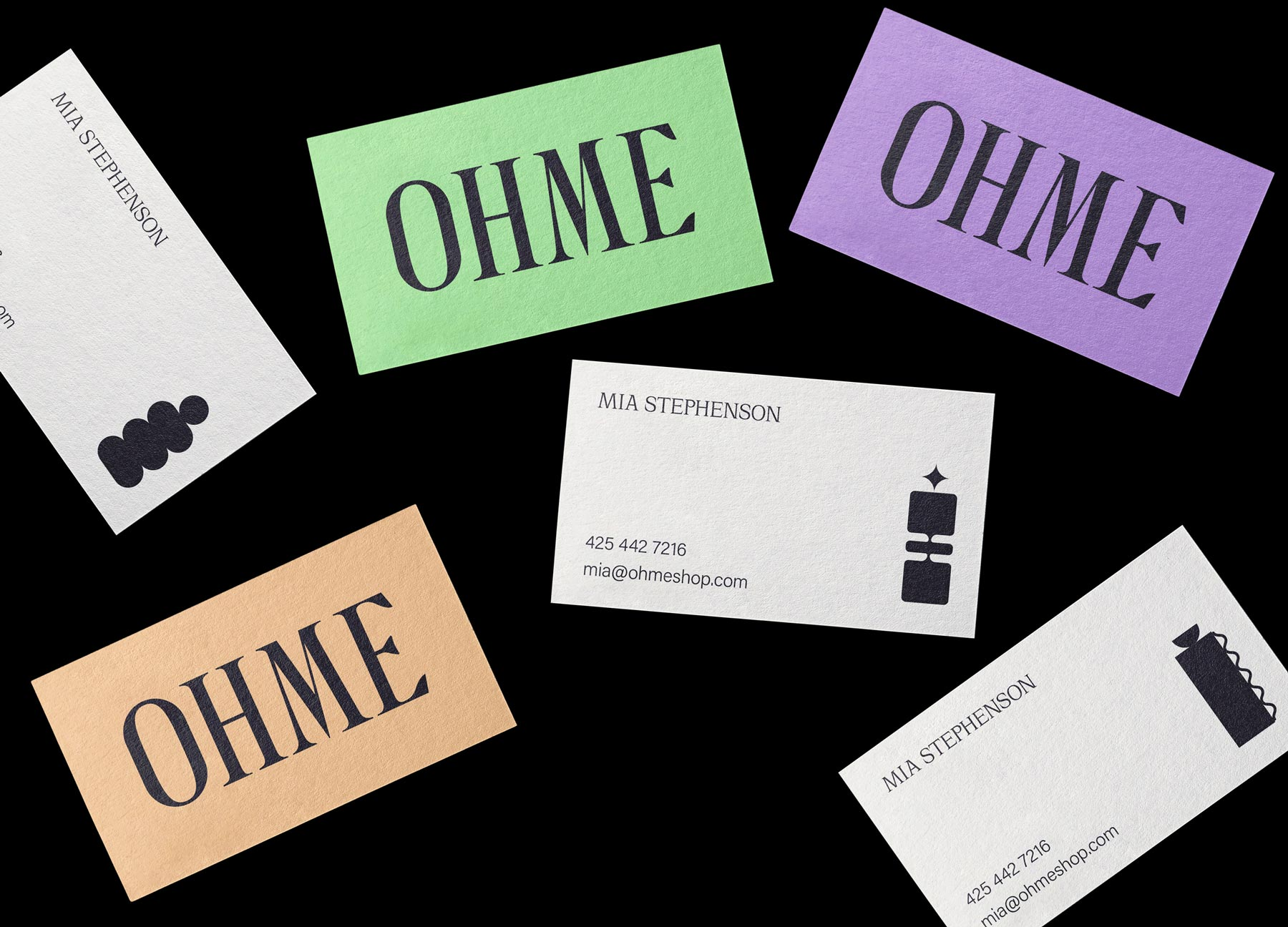 OHME business cards by ES