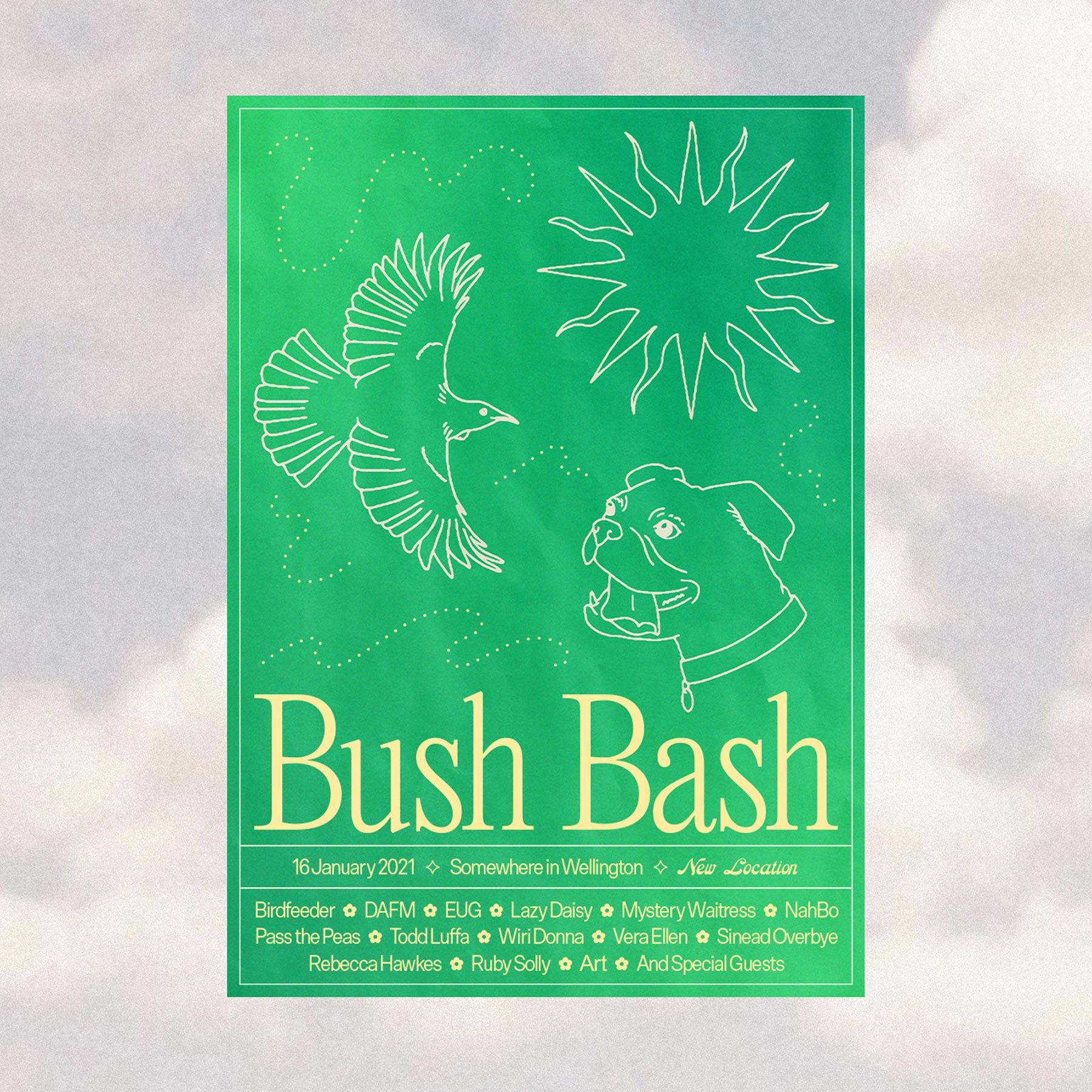 Bush Bash 2021 poster by ES