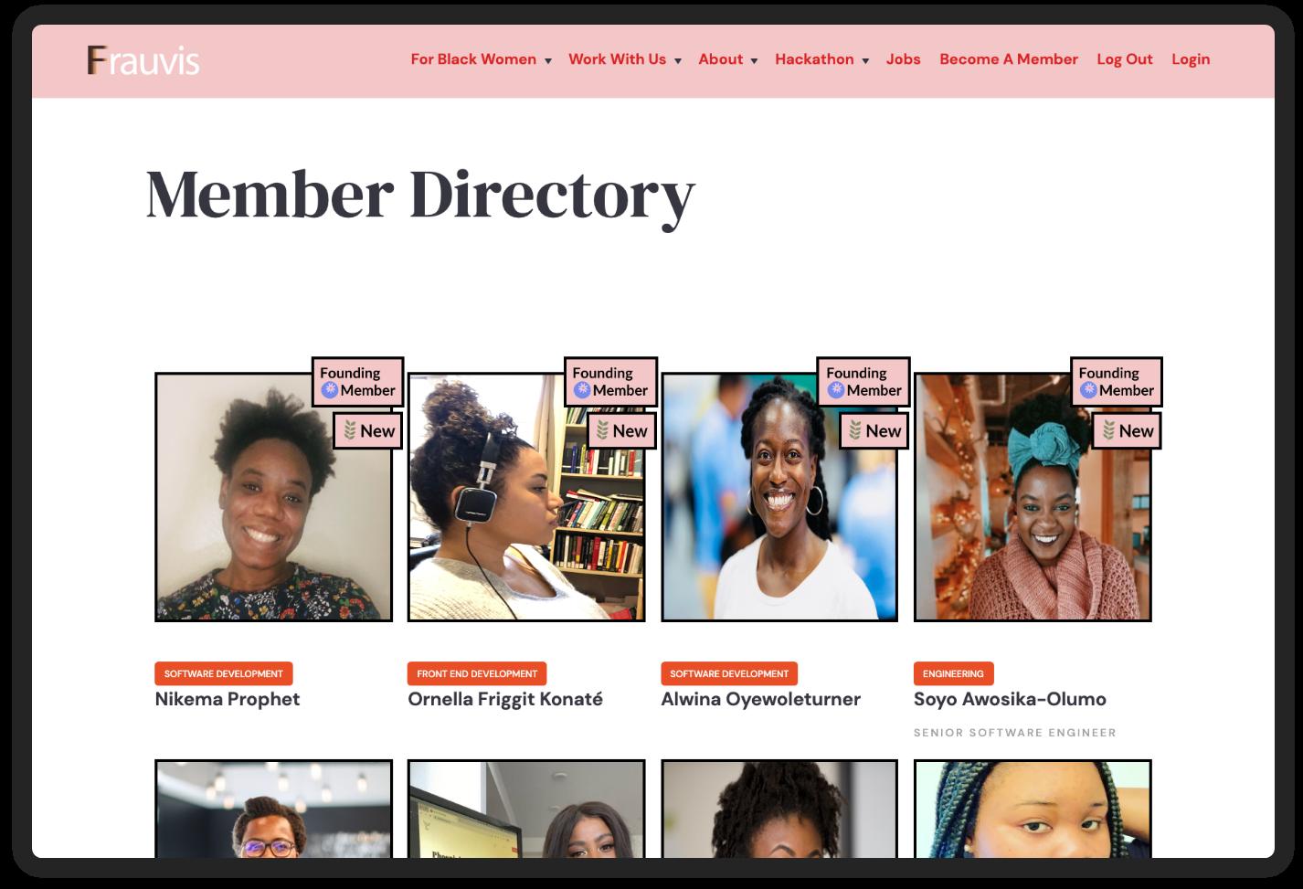 Frauvis members directory.