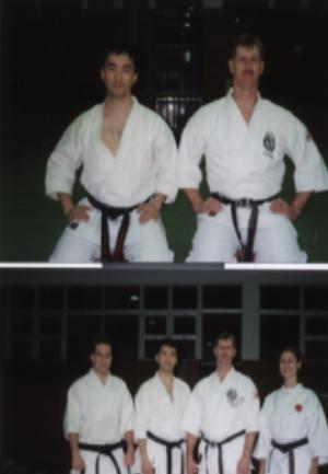 Sensei Steven Johnson with NKKF in Yokosuka Japan