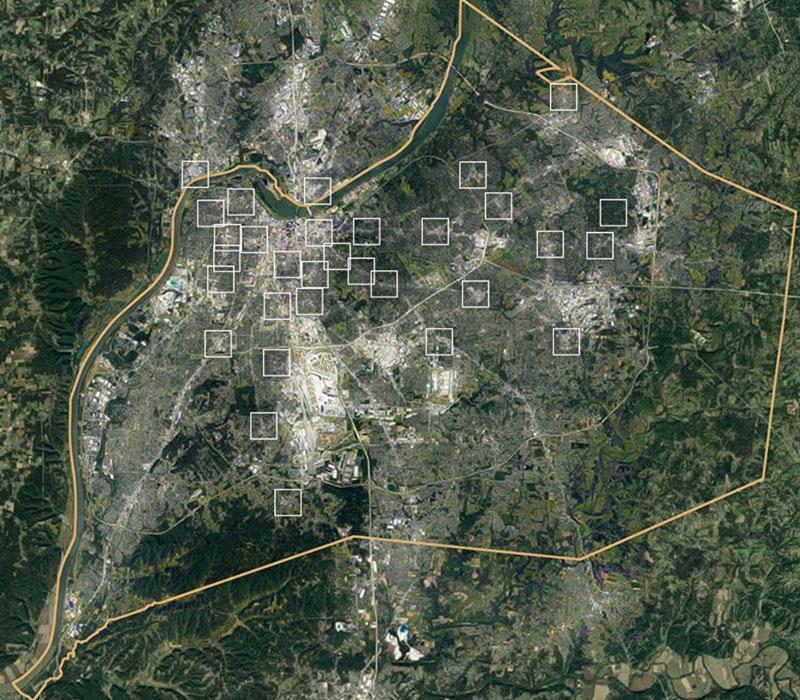 satellite image of louisville